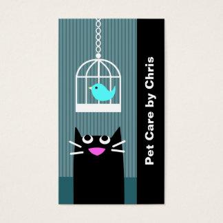 Haustier-Sorgfalt beruflich Visitenkarte
