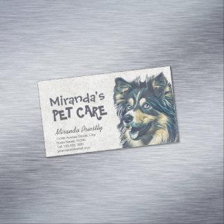 Haustier-Sorgfalt-Pflegensitzender entzückender Magnetische Visitenkarten