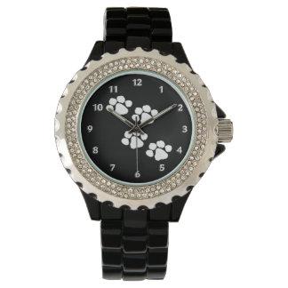 Haustier-Tatzen-Drucke Armbanduhr
