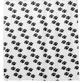 Haustier-Tatzen-Drucke Duschvorhang