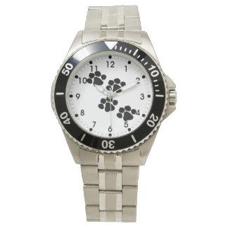 Haustier-Tatzen-Drucke Uhr