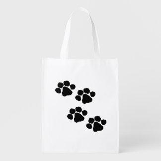 Haustier-Tatzen-Drucke Wiederverwendbare Einkaufstasche