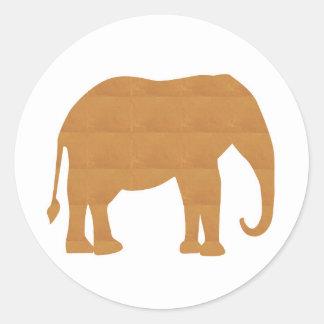 Haustier-Tier-Puppen-Spiel des Elefant-NVN353 Runder Aufkleber