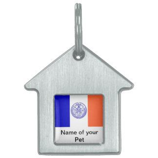 Haustier-Umbau mit Flagge von New York City Tiermarke