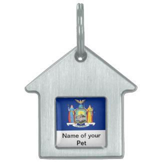 Haustier-Umbau mit Flagge von New- YorkStaat Tiermarke