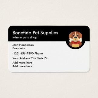 Haustier-Versorgung Visitenkarte