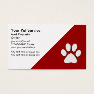 Haustier-Visitenkarten Visitenkarte