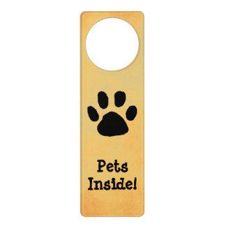 Haustier-warnendes Tür-Zeichen