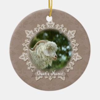 Haustier-Ziegen-Vintage Keramik Ornament