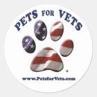 Haustiere für Tierarzt-Aufkleber Runder Aufkleber
