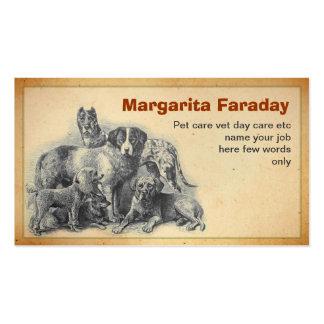 HaustierhundeVisitenkarte Visitenkarten
