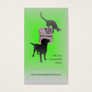 Haustierpflege/Haustier-Modell (grüne Version) Visitenkarte