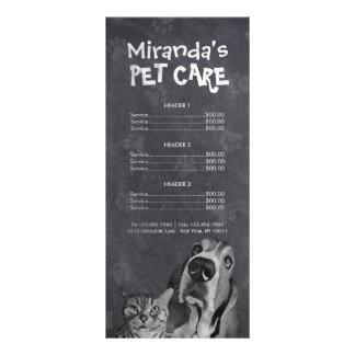 Haustierpflege-sitzende Werbekarte