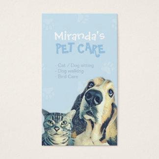 Haustierpflege-sitzender Baden-und Visitenkarte