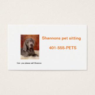 Haustierpflege Visitenkarte
