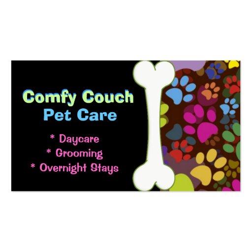 Haustierpflege-Visitenkarte-Tatzen-Drucke