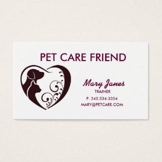 Haustierpflege-Visitenkarte Visitenkarte