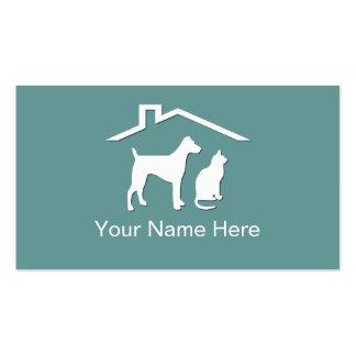 Haustierpflege-Visitenkarten