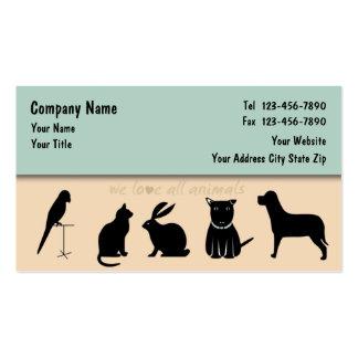 Haustierpflege-Visitenkarten repariert