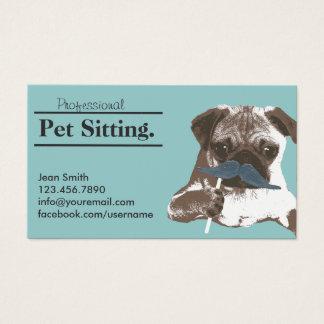 Haustiersitter-niedliche Visitenkarte