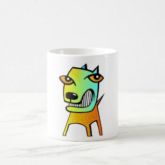 Haustiertier des merkwürdigen abstrakten Kubismus Kaffeetasse
