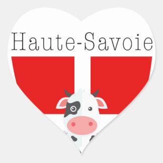 Haute-Savoie Kuh-Aufkleber (Herz) Herz-Aufkleber
