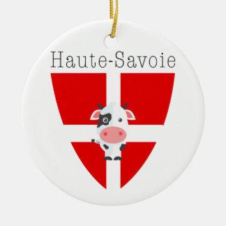 Haute-Savoie Kuh-Kreis Dble-versah Verzierung mit Rundes Keramik Ornament