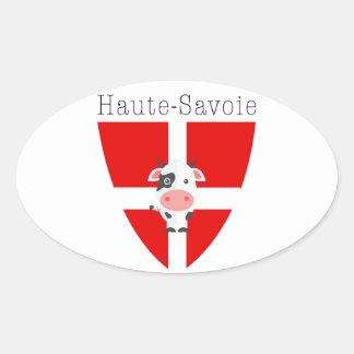 Haute-Savoie Kuh Ovaler Aufkleber