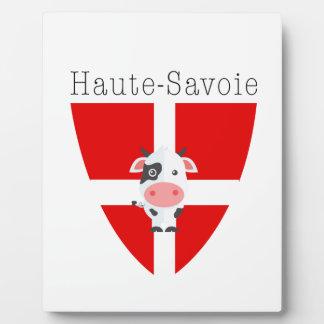 Haute-Savoie Kuh-Plakette mit Gestell Fotoplatte
