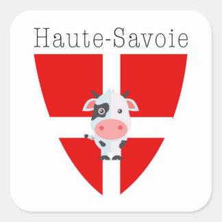 Haute-Savoie Kuh Quadratischer Aufkleber