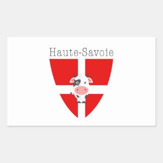 Haute-Savoie Kuh Rechteckiger Aufkleber