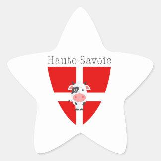 Haute-Savoie Kuh Stern-Aufkleber