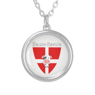Haute-Savoie Kuh Versilberte Kette