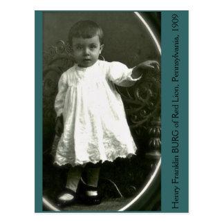 Hautecouture-Kleinkind von 1909 Postkarten