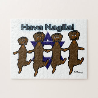 Hava Nagila Dachsunds-Puzzlespiel Puzzle