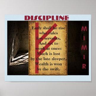 Havamal Disziplin Poster
