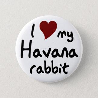 Havana-Kaninchen Runder Button 5,1 Cm