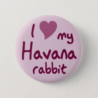 Havana-Kaninchen Runder Button 5,7 Cm