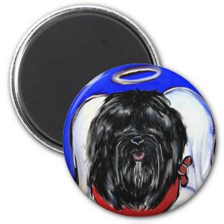 Havana-Seide-Hund Runder Magnet 5,7 Cm
