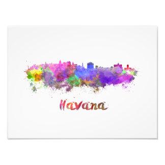 Havana skyline im Watercolor Fotodruck