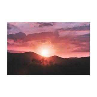 Havana-Sonnenuntergang Leinwanddruck