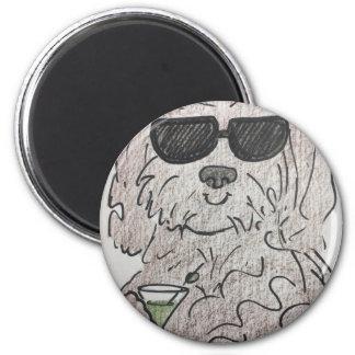 Havanese Hund Martini Runder Magnet 5,7 Cm