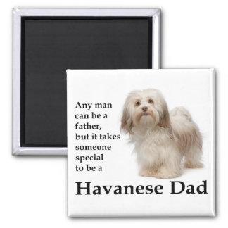 Havanese Vati-Magnet Quadratischer Magnet