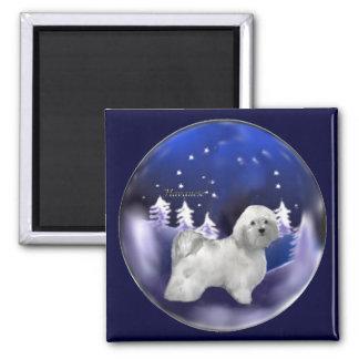 Havanese Weihnachtsgeschenke Quadratischer Magnet
