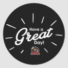 Have A Great Day Sticker (Black)