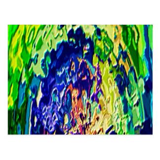 Havenly blaue Flammen-geistige Erfahrung V1 Postkarte