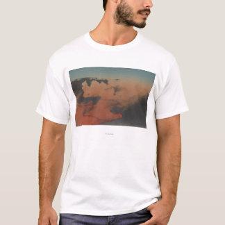 Hawaii - Ansicht von Kilauea Vulkan in ha T-Shirt
