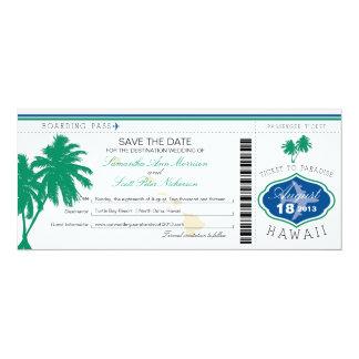 Hawaii-Boarding-Durchlauf Save the Date 10,2 X 23,5 Cm Einladungskarte