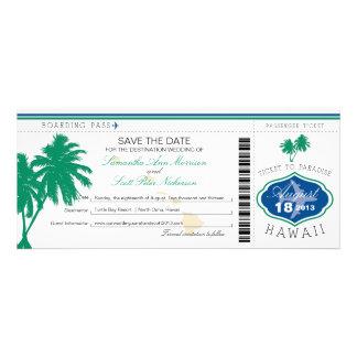 Hawaii-Boarding-Durchlauf Save the Date Personalisierte Einladungen