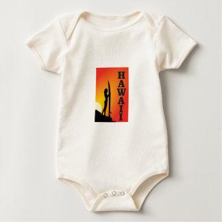 Hawaii-Brandungsmädchen Baby Strampler